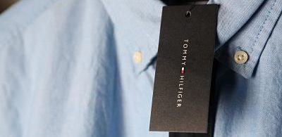 Tommy Hilfiger blue shirt with tab